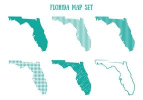 Conjunto de mapas da Flórida vetor
