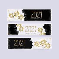 banners elegantes de ano novo