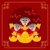 boi do ano novo chinês vetor