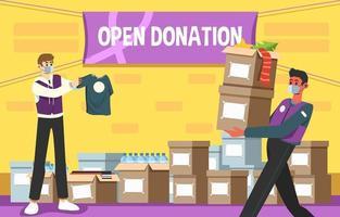 evento de doação social para a vida vetor