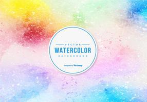 Fundo Multicolor de Aguarela vetor