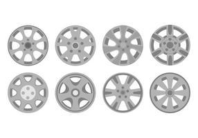 Livre hubcap ícones vetor