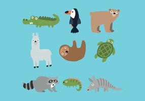 Conjunto do reino animal vetor