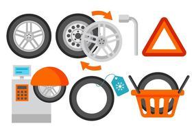 Vetor de serviço de pneu livre
