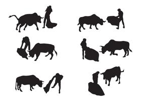 Vetor de silhueta do touro