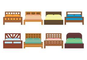 Conjunto de ícones de vetores de cama
