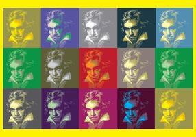 Fundo de arte pop de Beethoven vetor