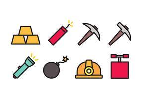 Pacote de ícones de mineração vetor