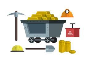 Ilustração do vetor do elemento Rush do ouro