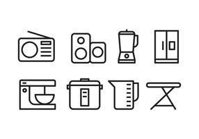 Ícones de eletrodomésticos vetor