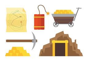 Ícones do vetor Rush do ouro