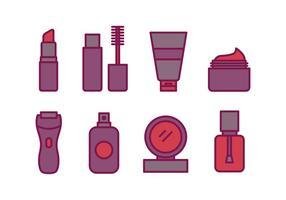 Pacote de ícones cosméticos vetor