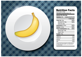 Vetor livre de fatos de nutrição de banana