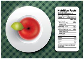 Vector de fatos de nutrição grátis da Apple