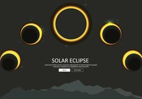 Ilustração grátis da fase do eclipse solar vetor