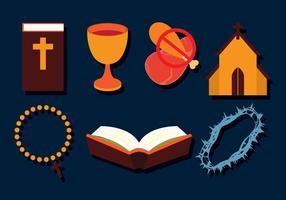 Conjunto de ícones da Quaresma vetor