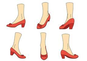 Ícones de vetor de chinelos de rubi