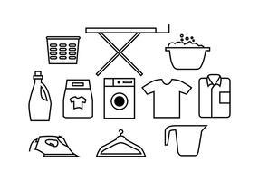 Vector de ícones de lavanderia grátis