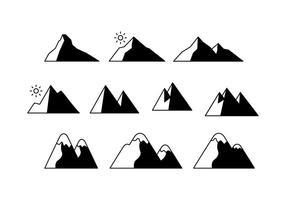 Vetor de ícone de montanhas grátis