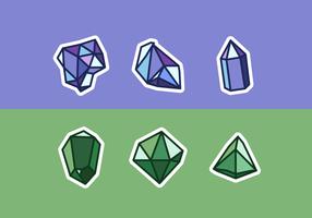 Pacote de vetores grátis de quartzo