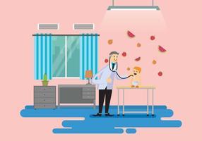 Ilustração gratuita do pediatra vetor