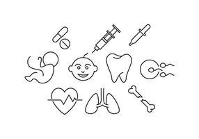Vetor de ícone de linha médica gratuita