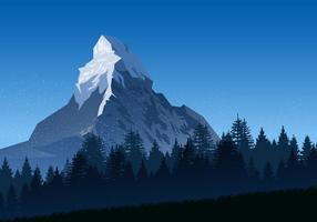Inverno no Matterhorn vetor