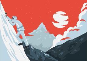 Vector da ilustração do montanhista de Matterhorn