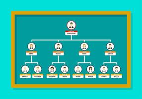 Org Graph Template Free Vector