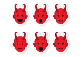 Vetores Emoticon da Cabeça de Lúcifer