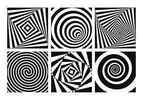 Ilusão óptica psicodélica vetor