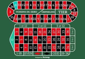 Vector European Roulette Table para qualquer projeto