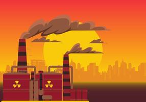 Pilha de fumaça com vetor de poluição