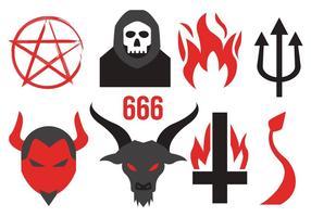 Vetor de ícones do diabo grátis