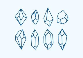 Formas de cristal do vetor