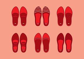 Vetor de chinelos de rubi