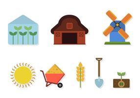Vetores agrícolas planos