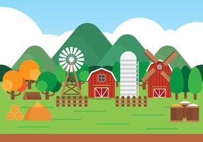 Paisagem de desenhos animados da fazenda