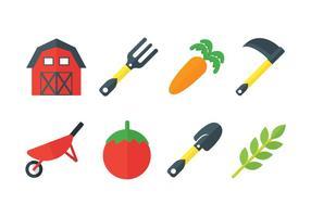 Ícones de vetor de fazenda fresca