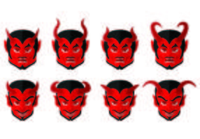 Conjunto de ícones de Lucifer vetor