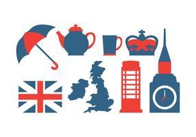 Conjunto de ícones britânicos vetor