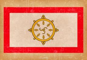 Bandeira de Grunge de Sikkim vetor