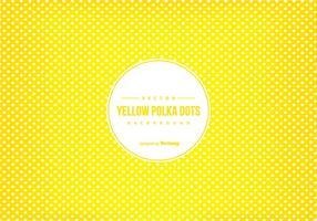 Fundo amarelo do Scrapbook do às bolinhas vetor