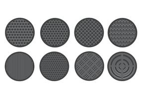 Free speaker grill icons vector