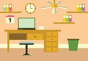 Ilustração do espaço de trabalho vetor