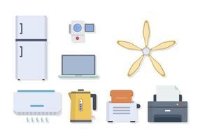 Vetores Flat Home Appliance