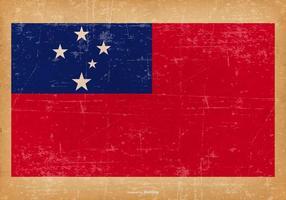 Bandeira de Samoa do Grunge vetor