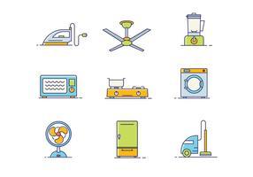Conjunto de Ícones de Objetos Domésticos vetor