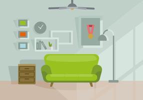 Ilustração da sala de estar vetor