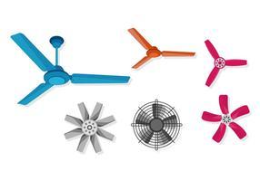 Seis ventilador de teto de vetor